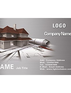 Business Cards 200pcs Classy Construction and Real Estate Pattern of Art Paper