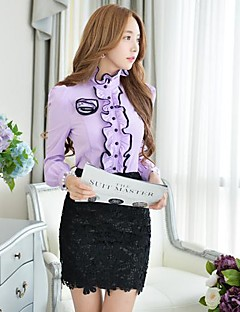 Women's Pink/White/Black Skirts , Bodycon/Casual/Lace/Work Above Knee