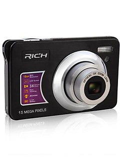 "RICH DC-Z150 HD 720P Pixels 15.0 Mega Pixels 12X zoom 2.7""LCD Screen HD Digital Camera"
