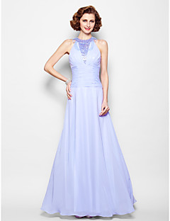 A-line Mother of the Bride Dress - Lavender Floor-length Sleeveless Chiffon