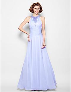 A-line Plus Sizes / Petite Mother of the Bride Dress - Lavender Floor-length Sleeveless Chiffon