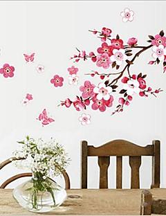 etiqueta de la pared del pvc flor del ciruelo extraíble ambiental