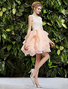 Homecoming Princess Collar Knee-length Wedding Dress (Lace/Organza)/Party Dress/Bridal Shower