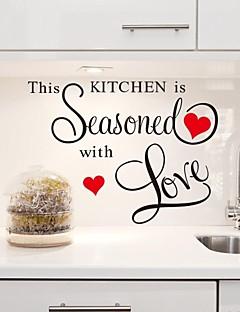 מדבקות קיר מדבקות קיר, המטבח הזה הוא מנוסה עם מדבקות מטבח PVC האהבה