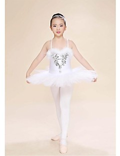 Ballet Dresses Women's / Children's Performance Feathers Feathers /Fur 1 Piece Ivory Ballet Spring, Fall, Winter, Summer Sleeveless High