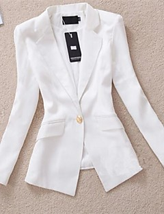 Women's Work Medium Long Sleeve Regular Blazer (Cotton Blends