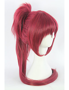 Cosplay Wigs Puella Magi Madoka Magica Cosplay Red Medium Anime Cosplay Wigs 75 CM Heat Resistant Fiber Female