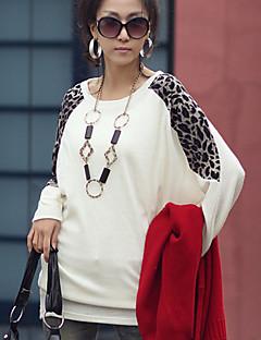 חולצתו של תינוק מנגו נשים מזדמנת צוואר עגול שרוול ארוך t