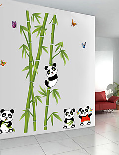 Wall Stickers Wall Decals, Panda and Bamboo PVC Wall Stickers