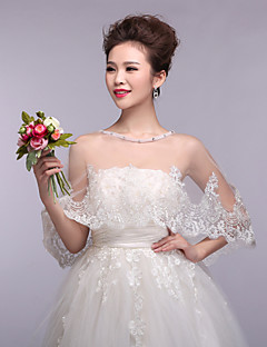 Wedding  Wraps Appliques Capelets Sleeveless Lace/Tulle Ivory