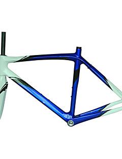 Neasty Brand 700C Full Carbon Fiber Frame and Fork 12K Blue White Color bicycle frame 52/54/56CM 18C-23C Tire