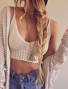 Women's Crochet Knit Spaghetti Straps Bikini Crop Top