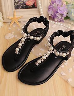 Sandal ( Svart/Rosa/Beige ) - i Komfort/Flip-flop - till FLICKA