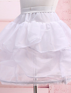Slips Flower Girl Dress Ball Gown Slip Short-Length 3 Nylon White