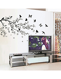 Animals / Botanical Wall Stickers Plane Wall Stickers , PVC 90*60*0.1cm (35.4*23.6*0.039inch)