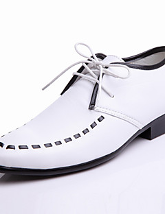 Men's Shoes Wedding/Office & Career/Party & Evening Leather Oxfords Black/White/Gold
