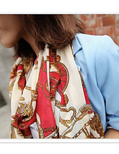 2015 New Shawls Scarves Chiffon Ink Blue/Red