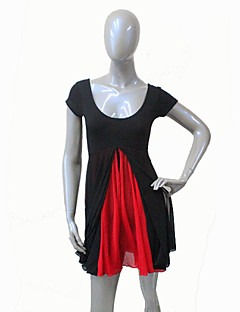 Cotton/Lycra Short Sleeve Leotard with Mesh Skirts More Colors for Girls and Ladies