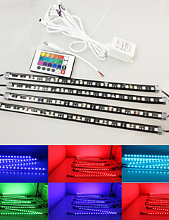 Wireless Control 72-SMD RGB 7-Color LED Night Rider Lighting Kit For Car SUV Truck Motorcycle ATV