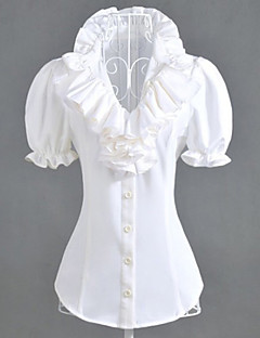 Puff Sleeve White Polyester Classic Lolita Blouse