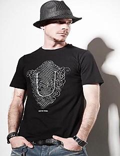 мужская мода шею хлопка футболку
