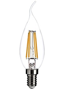 ON E12 4.5 W 4 COB 400 LM Warm White A Dimmable/Decorative LED Filament Lamps AC 110-130 V