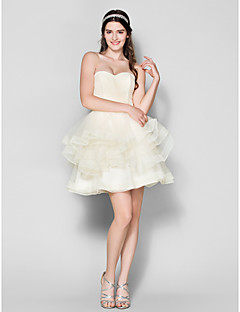 Cocktail Party Dress Plus Sizes / Petite Ball Gown Sweetheart Short/Mini Tulle