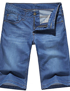 U-Shark Men's Summer Slim Casual&Fashion Jeans Shorts Pants/Trousers with Blue