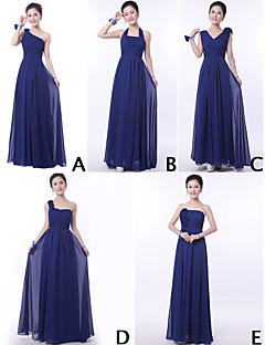 Mix & Match Dresses Floor-length Chiffon 9 Styles Bridesmaid Dresses (3228009)