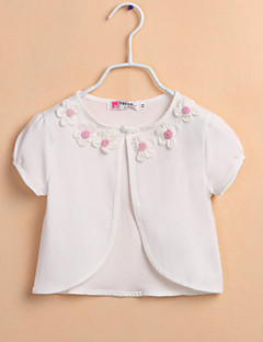 kinderen wraps bolero effen kleur polyester sweet bloem bolero wit / roze bolero schouderophalen