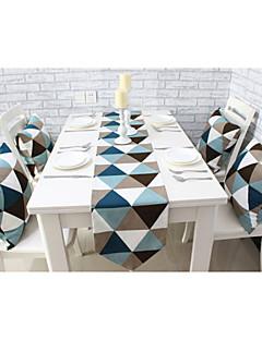 """style européen de haute qualité d'impression géométrique de table en coton coureur (12 """"x63"""")"""