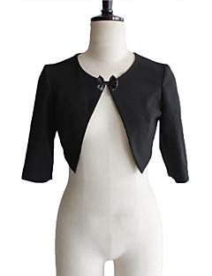 pele envolve casacos / jaquetas noite / estolas / boleros meia-luva de algodão shrug bolero preto