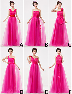 Mix & Match Dresses Floor-length Tulle and Lace 6 Styles Bridesmaid Dresses (3227685)