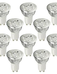 6W GU10 LED-spotlampen 4 Krachtige LED 530-580 lm Koel wit AC 100-240 V 10 stuks