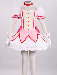 Inspirovaný Puella Magi Madoka Magica Madoka Kaname Anime Cosplay kostýmy Cosplay šaty Patchwork RůžováLeotard / Sukně / Rukavice /