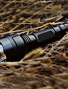 Verlichting LED-Zaklampen / Handzaklampen LED 200 Lumens 5 Mode Cree XR-E Q5 18650 Oplaadbaar / Tactisch / zelfverdedigingAluminium