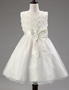 Girl's Summer Opaque Sleeveless Princess/Flower Girl/ Wedding Dress (Cotton Blend)