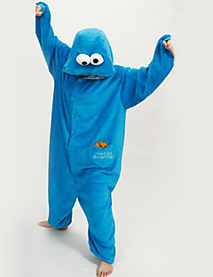 New Cosplay®Unisex Cute Blue Sesame Street Polar Fleece Kigurumi Pajama(without Shoes)
