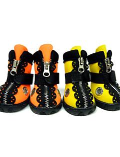 Cães Sapatos e Botas Prova-de-Água Inverno Primavera/Outono Cor Única Laranja Amarelo Borracha