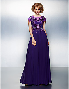 TS Couture® Formal Evening Dress Plus Size / Petite A-line Scoop Floor-length Chiffon with Appliques