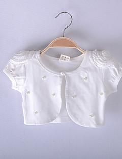 kinderen wraps lace / polyester zoete parel party / casual bolero wit / roze bolero schouderophalen
