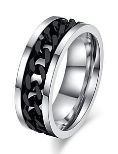 Pánské Dámské Prsteny s kamenem láska bižuterie Titanová ocel Šperky Šperky Pro Svatební Párty Denní Ležérní Sport