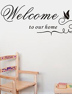 velkommen til vores hjem tilbud væg decals zooyoo8181 dekorative adesivo de Parede aftagelig vinyl wall stickers