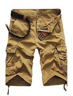 Homme Couleur Unie Taille Normale non élastique Droite Short Pantalon,Mince Droite Couleur Pleine