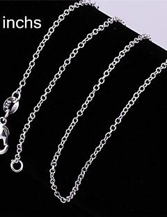 Modische Halsketten Ketten Schmuck Party / Alltag / Normal Modisch Sterling Silber Weiß 1 Stück Geschenk