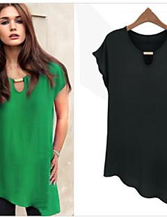 gagné caractères verts t-shirts des femmes, rond casual manches courtes