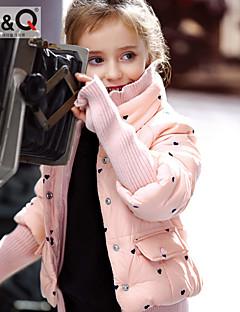 Girl's Winter/Fall Micro-elastic Medium Long Sleeve Down & Cotton Padded (Polyester)