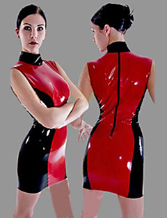 Hot cheongsam PU Leather Halloween Female Sexy Uniforms