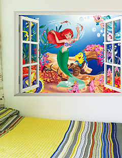 Cartoon Wall Stickers 3D Wall Stickers Decorative Wall Stickers,PVC Material Removable Home Decoration Wall Decal