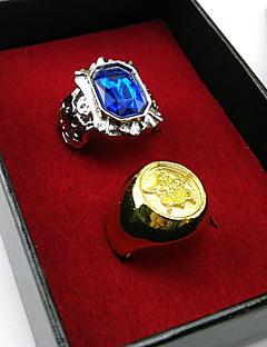 KuroShitsuji Ciel Phantomhive Black Butler  Set rings Cosplay Accessories